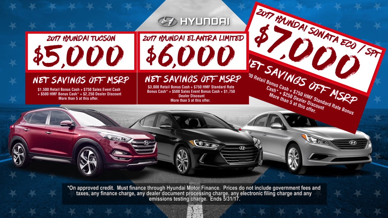 Memorial Day Car Sales 2017 >> Memorial Day Better Than Ever Sales Event At Bakersfield Hyundai