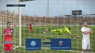 #26 Jamshedpur vs NorthEast United PES 2019  Match Highlights Prediction ISL 2019 - 20 Gameplay