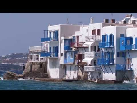 The Little Venice seaside area of Mykonos MVI 5186