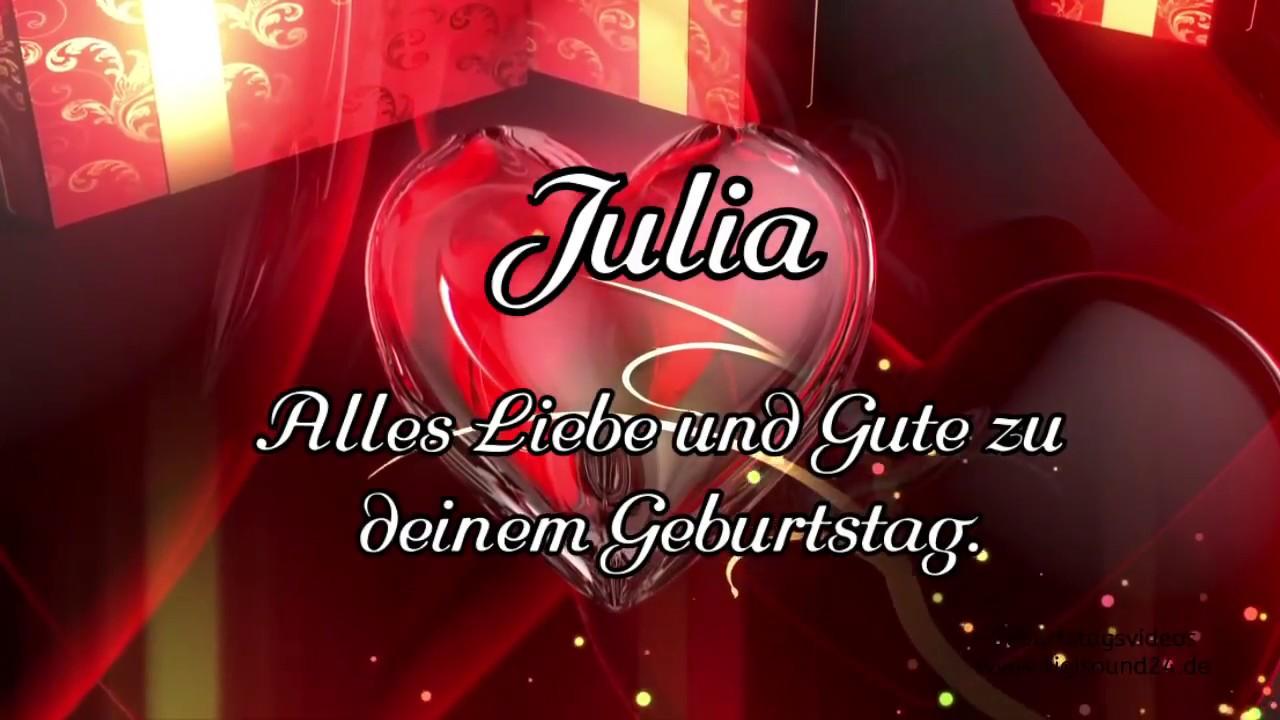 Beispielname Julia Alles Gute Zum Geburtstag Original Happy