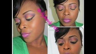 Spring Makeup Tutorial |Sunset Eyeshadow Tutorial-2014