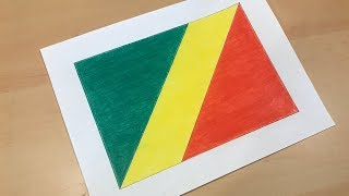 Congolese Flag Drawing 🇨🇬 (Republic of the Congo)
