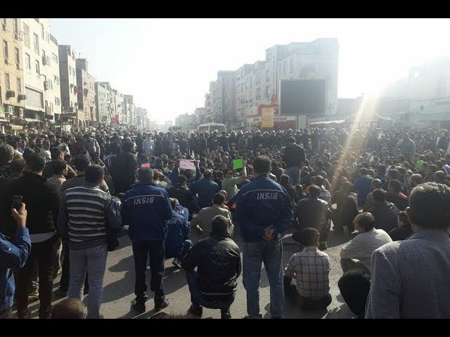 Iran: 38th Day of Demonstration of Steel Workers Supported by Ahvaz Citizens