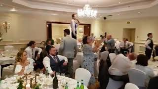 Lee Holland - Chesterfield Singer singing waiters Brown Eyed Girl April 2018 cover table climbing