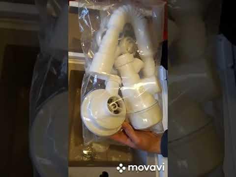 Кухонна мийка GRANADO Cadiz Black Shine GR2301 + сифон одинарний для кухонної мийки Nova
