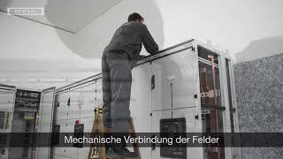 Niederspannungs-Schaltanlagen - Mechanische Verbindung der Felder