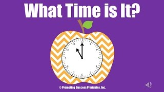 Telling Time For Kids To The Hour Half Hour Minute Teaching How To Tell Time Clocks