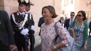 Le consorti e i consorti dei Leader del G7 visitano Palazzo Corvaja a Taormina (27/05/2017)