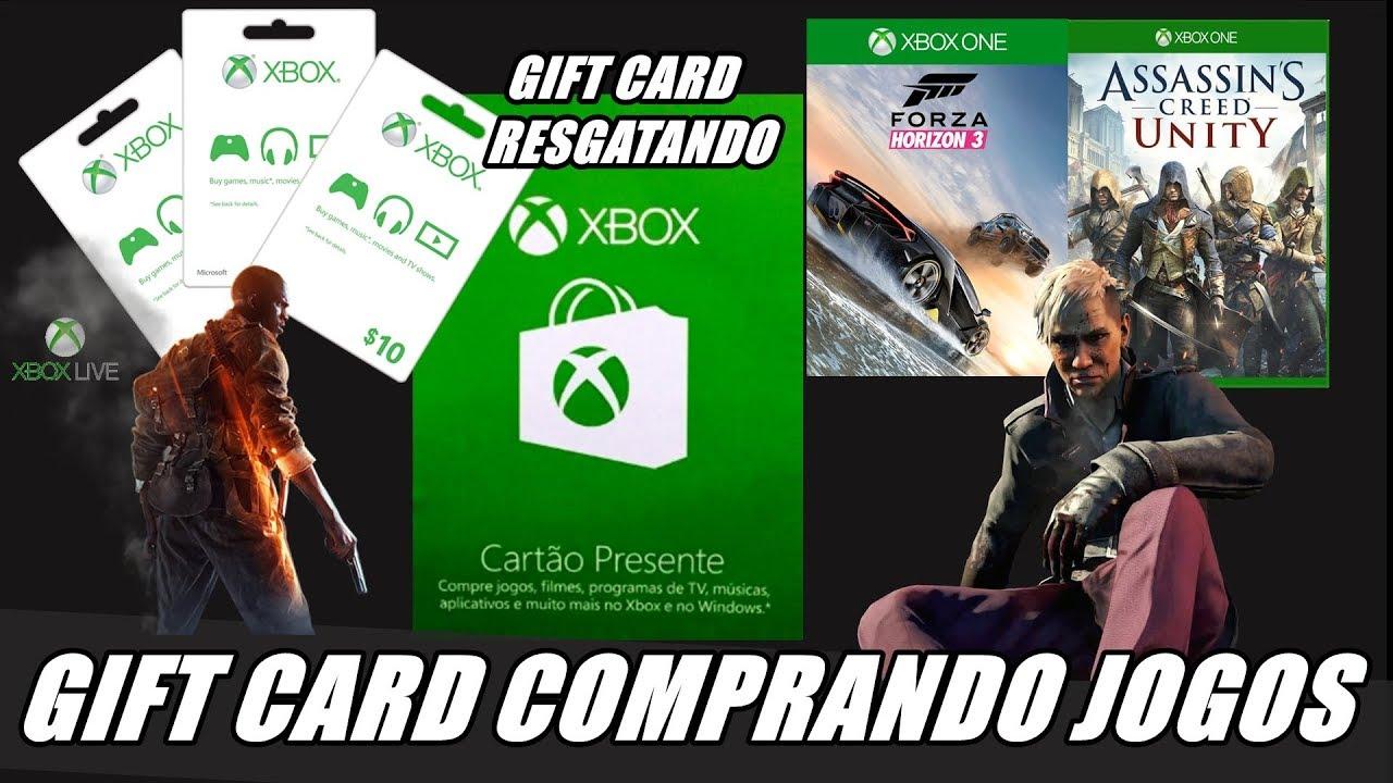 GIFT CARD COMO RESGATAR E COMPRAR SEUS JOGOS XBOX ONE E 360