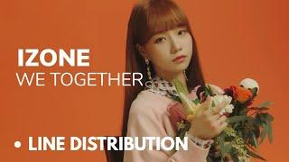 IZONE - We Together (Line Distribution)