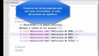 Enlaces a paginas HTML