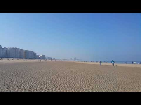 Oostende (Ostend) Beach in Belgium