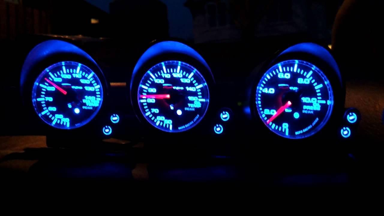 Depo Peak Stepper Gauge Startup - Toyota Starlet GT Turbo