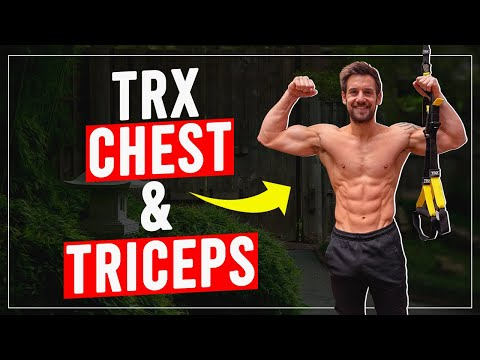 TRX CHEST & TRICEPS WORKOUT! Follow Along 9 minutes...