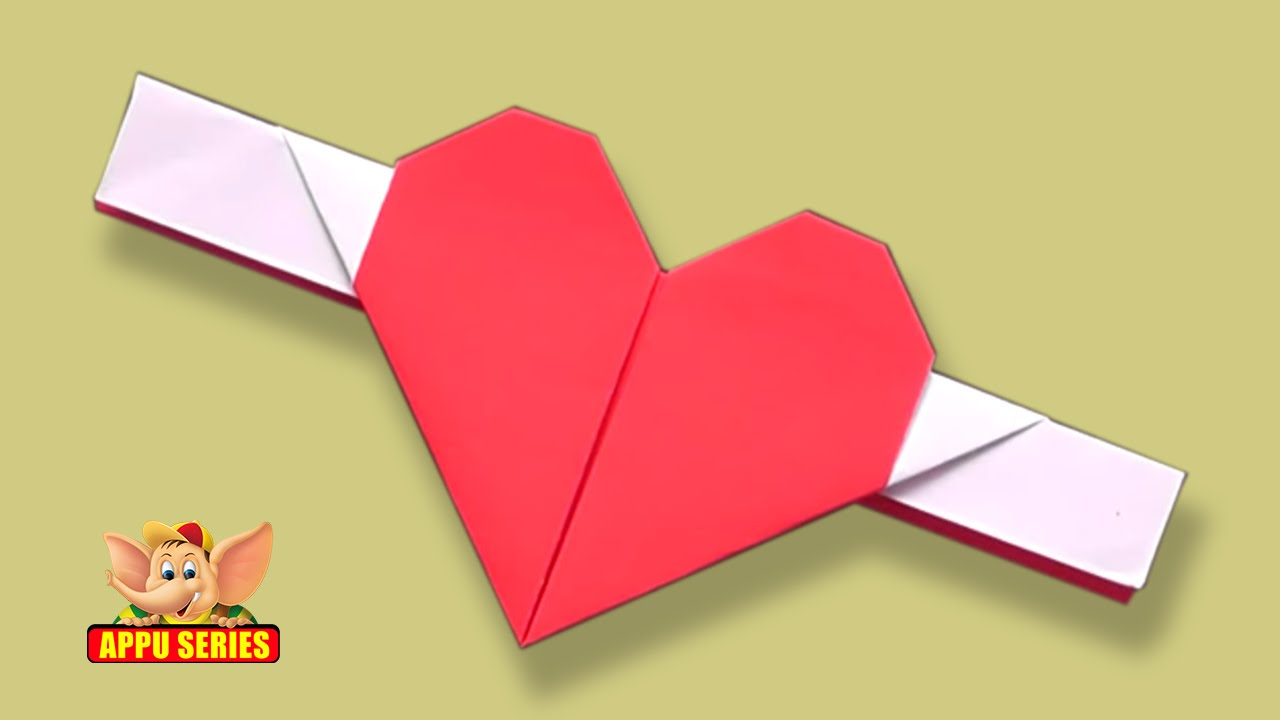 Origami Fun And Simple Heart With Wings Youtube