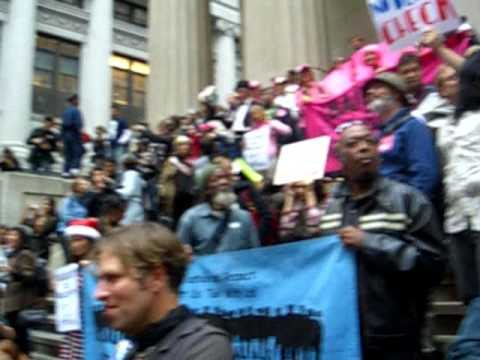 Protesters on Wall Street (NYC  2008)
