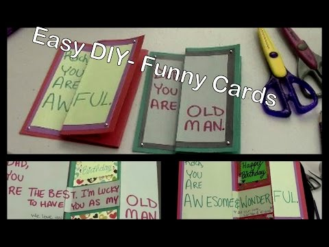 DIY – Funny Birthday Cards for Friends & Family