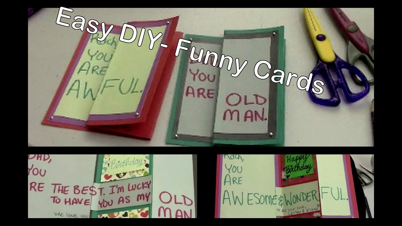 Diy Funny Birthday Cards For Friends Family Youtube