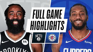 NETS at CLIPPERS | FULL GAME HIGHLIGHTS | February 21, 2021