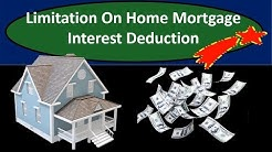 Limitation On Home Mortgage Interest Deduction - Tax Law Changes 2018