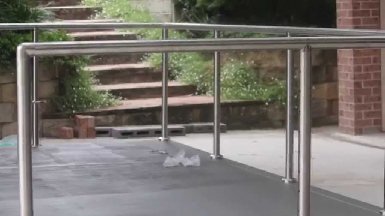 How To Install Diy Stainless Steel Posts And Handrails Youtube | Stainless Steel Handrails Near Me | Metal | Cable Railing | Glass Railing Systems | Relaxdays Stainless | Staircase Railing