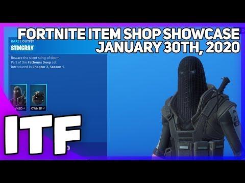 Fortnite Item Shop *NEW* STINGRAY SET + NFL SKINS! [January 30th, 2020] (Fortnite Battle Royale)