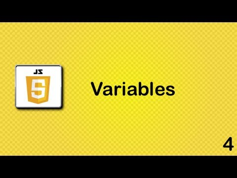 Javascript Beginner Tutorial 4 - Variables