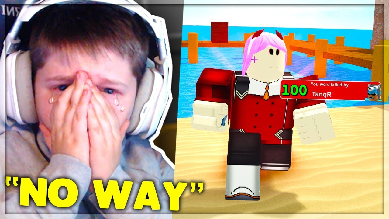 I Challenged A Streamer To A 1v1 Roblox Arsenal Youtube
