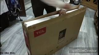 TCL 39 inches full HD led L39D2900 unboxing purchased from Amazon. Damage or not checking.