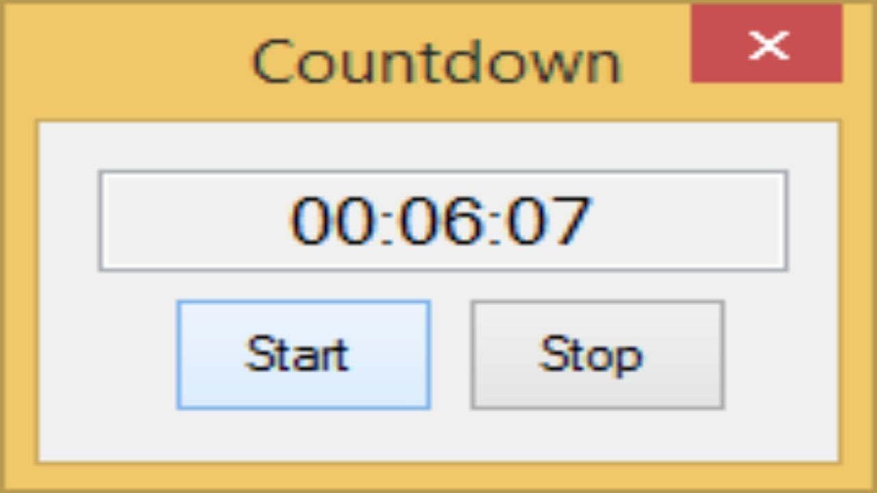 C# Tutorial - How to make a Countdown Timer C# NET | FoxLearn