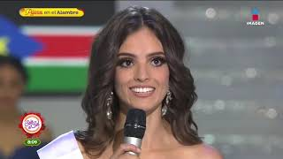 La respuesta que dio a México el 1er lugar en Miss Mundo 2018 | Sale el Sol