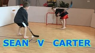 Kids HocKey Epic Knee Hockey Sean J v C Banks