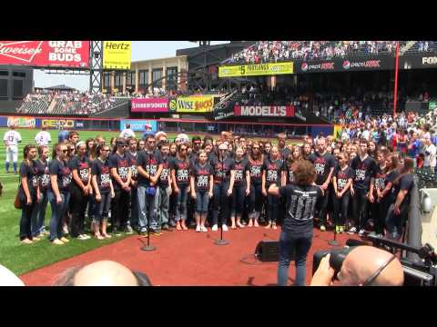 Northville High School Choir National Anthem at Citi Field, 26-May-12
