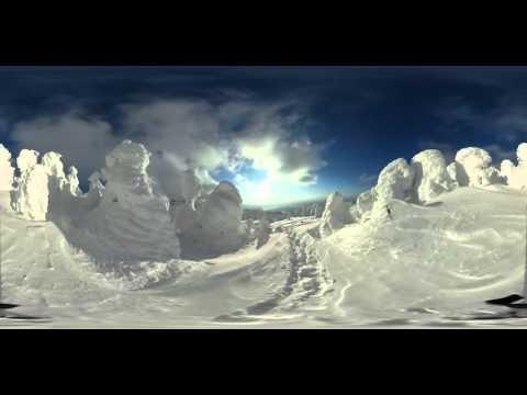 【360度動画ニュース】大自然が生んだ美しき「スノーモンスター」の世界 年に1度見られるかどうかの蔵王山の貴重な映像 Zao san 360 video