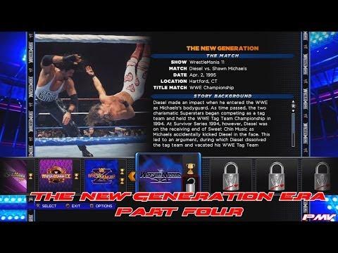 WWE 2K14 30 Years Of WrestleMania - The New Generation Era Walkthrough Part 4 Legend Difficulty