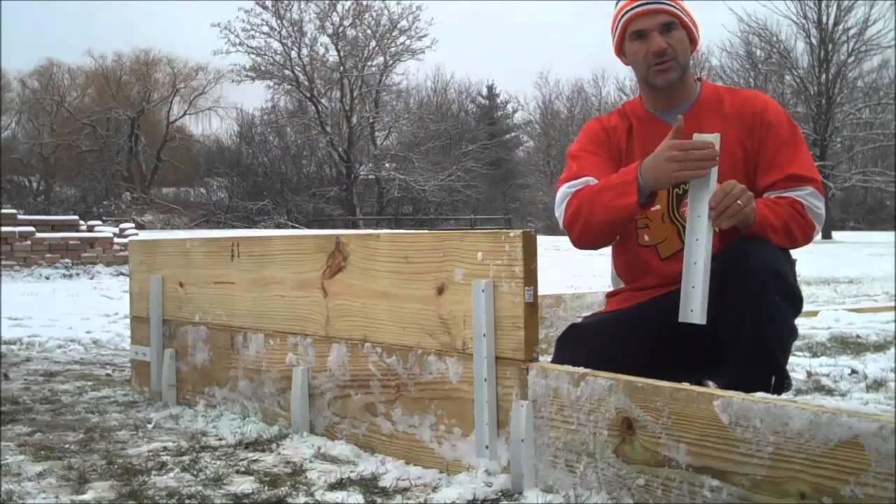 backyard ice rink brackets