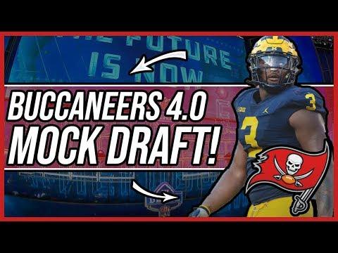 Tampa bay buccaneers mock draft 4.0! | Do the bucs Draft a QB?!