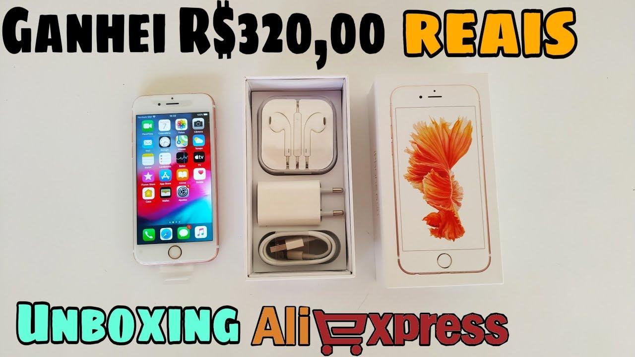 Comprei um iPhone no Aliexpress | Unboxing | Veja como ganho dinheiro!