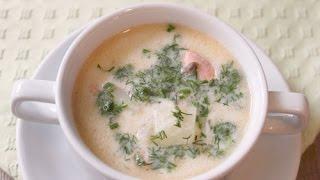 Рыбный суп из красной рыбы и сырка