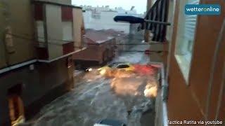 Schwere Unwetter in Spanien (14.09.2019)