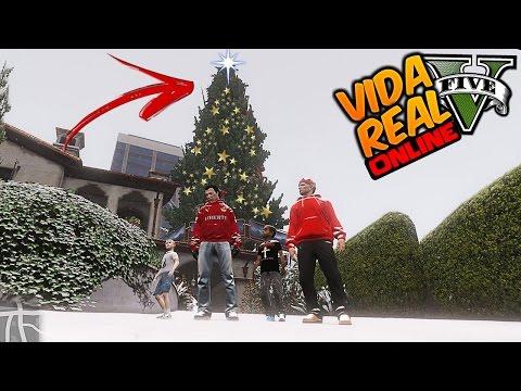 GTA V : Vida Real 🔴NLINE ~ Comprei Uma Árvore De Natal Gigante ( CarroVlog #200 )