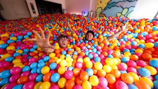 We Bought 100,000 Balls & Turned Our House Into a GIANT Ball P…