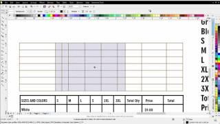 كيفية إنشاء جدول مخصص ل تي شيرت أمر من