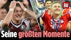 Die größten Momente von Bastian Schweinsteiger: Weltmeister beendet Karriere als Fußballer