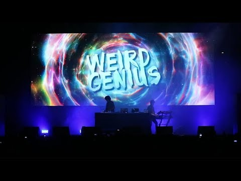 VJing for WEIRD GENIUS at ON OFF FESTIVAL 2018