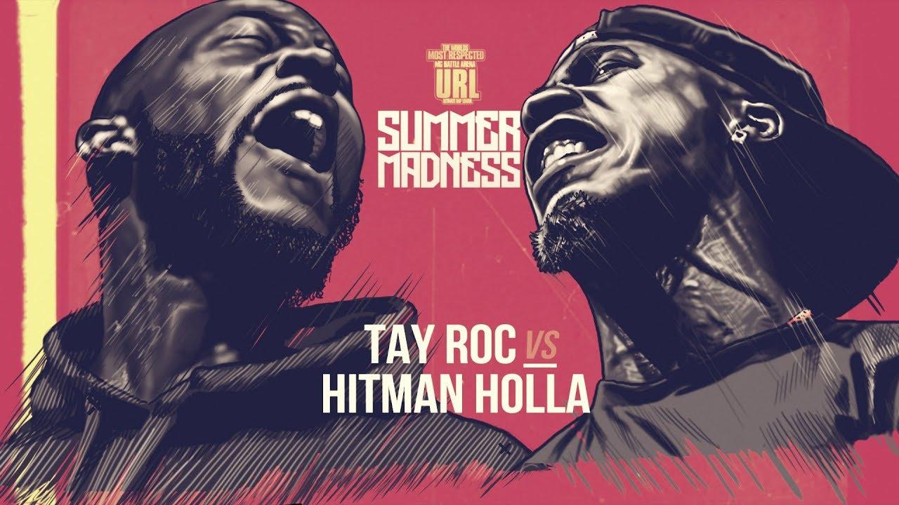 Download HITMAN HOLLA VS TAY ROC SMACK RAP BATTLE | URLTV