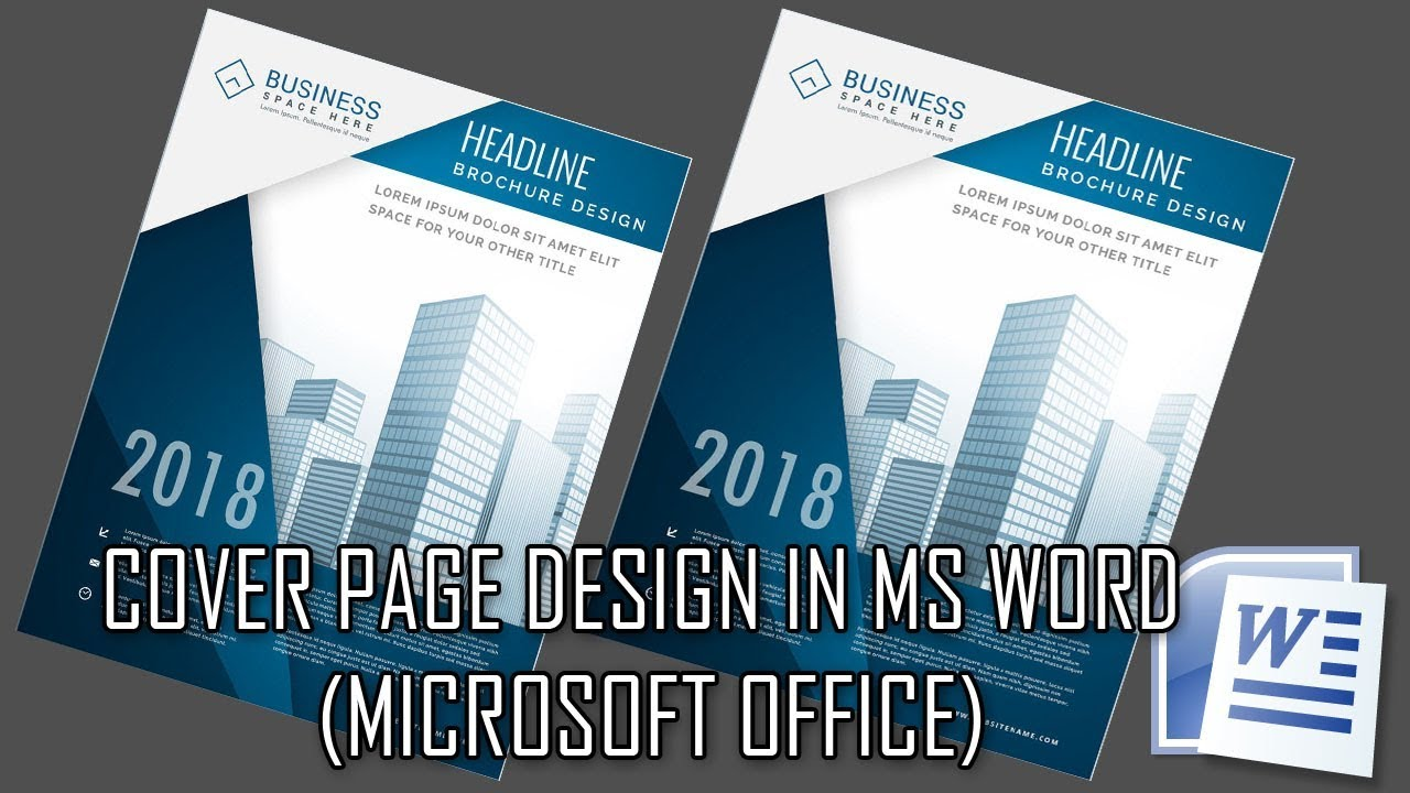 how to make cover page design in ms word 2018