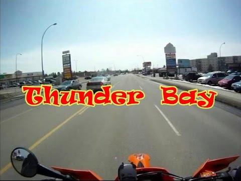 Dualsport Motocycle tour of Thunder Bay Ontario