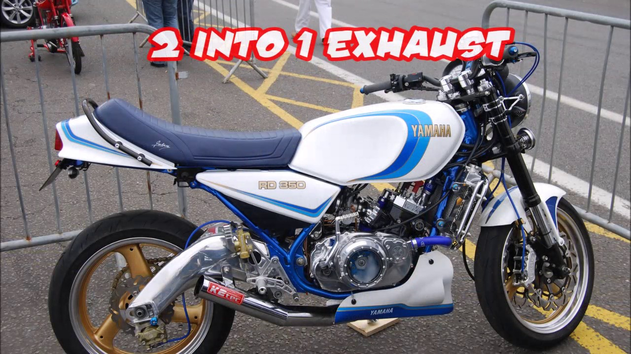 yamaha rd 350 ypvs 2 into 1 exhaust youtube. Black Bedroom Furniture Sets. Home Design Ideas