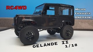 RC4WD Gelande II 1/18 Scale Micro Crawler Unboxing & Overview